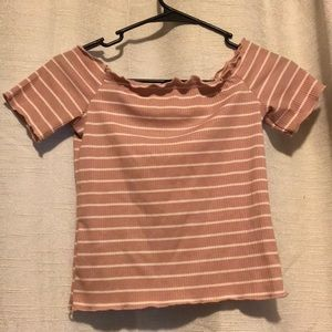 SHEIN Tops - Of the shoulder shirt